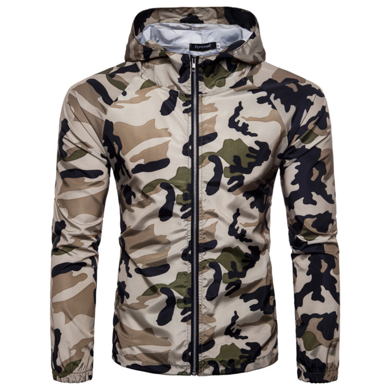 spring and summer men's fashion camouflage hoodies hoodie men casual mens hooded jackets cardigan zipper
