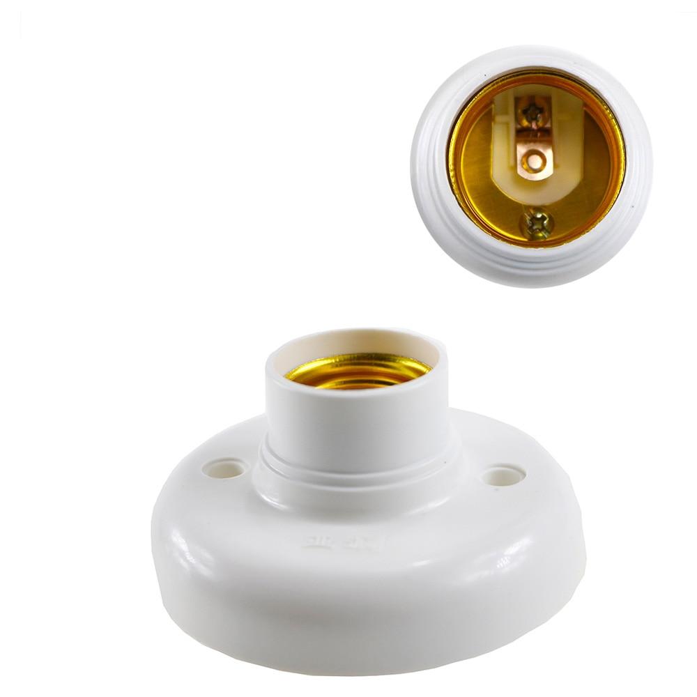 E27 Lamp Bases Socket Holder Bulb Adapter Round Screw LED Light Fixing Fitting Socket Connector Test Holder E27 Socket 1pcs/LOT