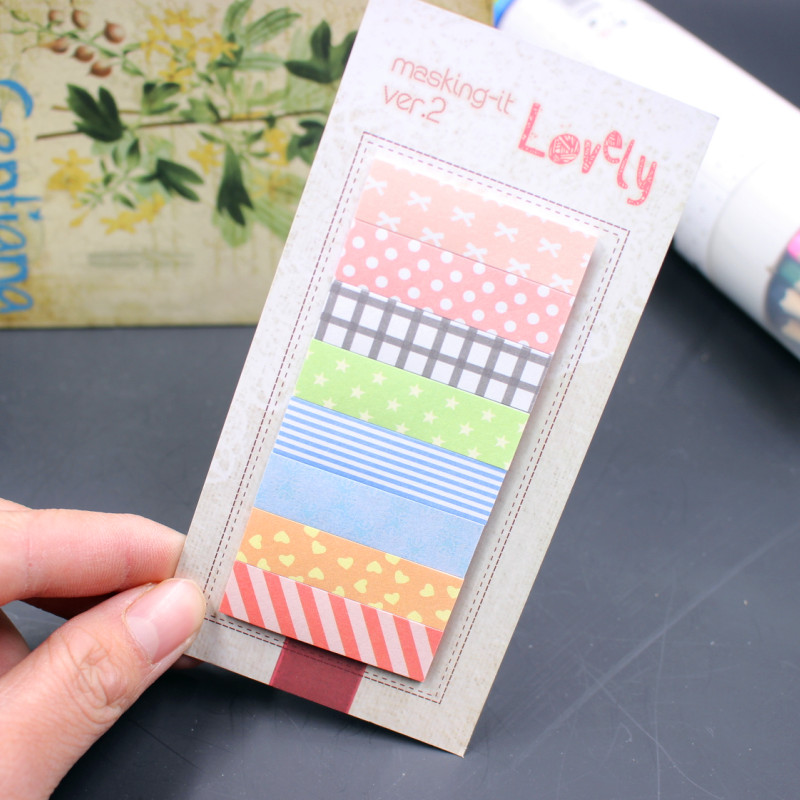 1 Lot Office Stationery Sticky Notes Korea Cute Kawaii 160 Pages Sticker Post It Bookmark Point It Marker Memo Sticker Paper 1pcs creative cute memo notes on paper blossoms stationery office can tear scratchpad bookmark notebook free shipping