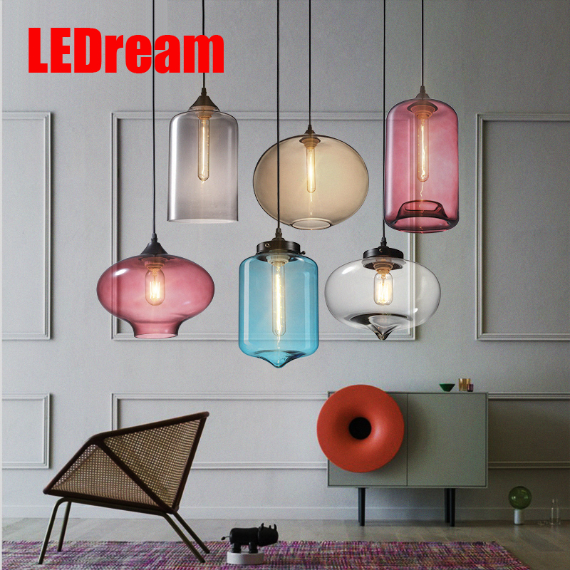 Contracted droplight sitting room dining-room light cafe modern glass pendant lamp for decoration T300 T10 T180 40 w Edison bulb подушка постельная lovo