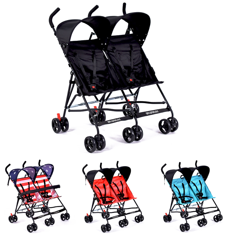 New Christmas gifts for twins infants Mutiple Stroller Folding Travel Stroller light weight baby carriages Umbrella pram Trolley folding twins baby stroller light weight portable european baby carriage double directions travel pram
