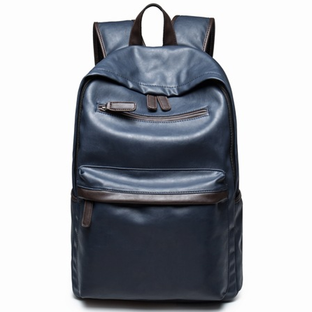 Brand Preppy Style Leather School Backpack Bag For College Simple Design Men Casual Daypacks mochila male New preppy style leather school backpack bag for college simple design men casual daypacks mochila unisex laptop backpack vintage