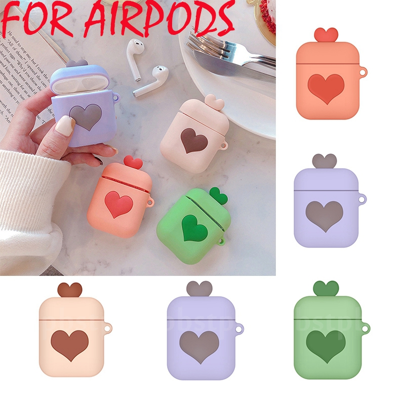 Love Heart TPU Case For Apple Airpods 2 Case Ultra Thin Wireless Bluetooth Earphone Case Cover For Air Pods Protective Box Shell