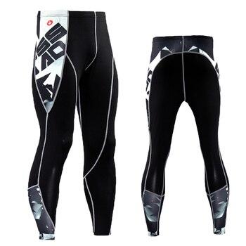 Marka spodnie kompresyjne rash guard męskie legginsy do biegania spodnie do joggingu Fitness biegaczy sportowe legginsy siłownia spodnie sportowe spodnie do jogi