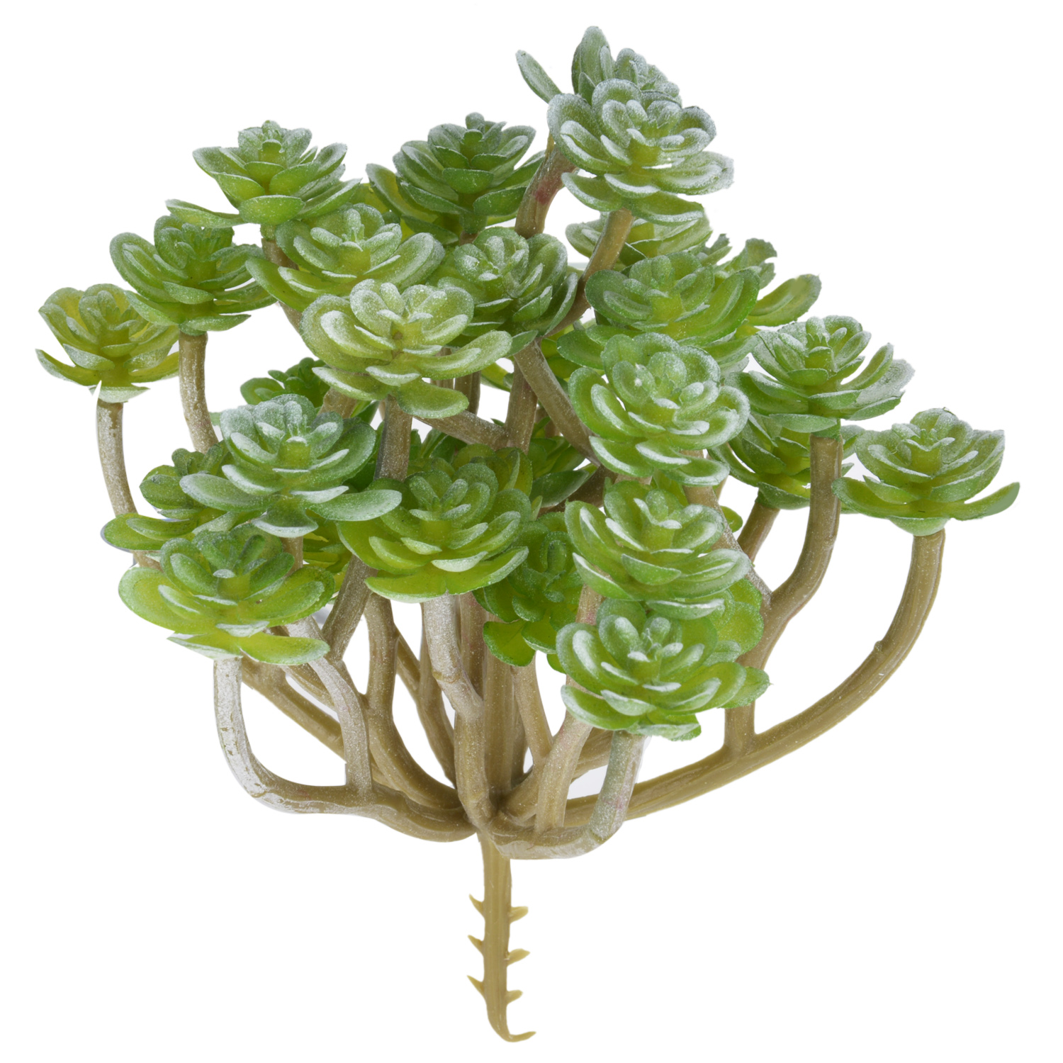 1pc Artificial Succulent Green Flocking Artificial Succulents Plants Bonsai Desktop Fake Plants Without Pot Wedding Decoration