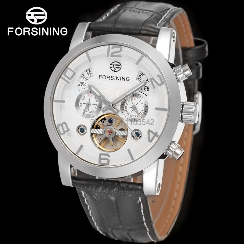FORSINING FSG165M3S3  new Automatic fashion dress Men watch tourbillon silver wristwatch for men best gift free shipping forsining fsg6625m3r2 new automatic fashion dress men watch tourbillon rose gold wristwatch for men best gift free shipping
