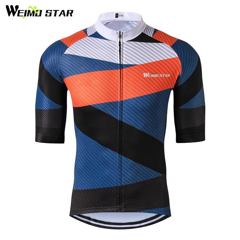 Weimostar Cyklistika Oblečení Tým Racing Sportovní Cyklistika Dres Top Muži Krátké Prodyšné mtb Bike Jersey Košile Maillot Ropa Ciclismo