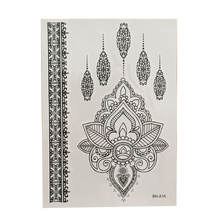 Women's Black Ink Henna Temporary Tattoo Sticker