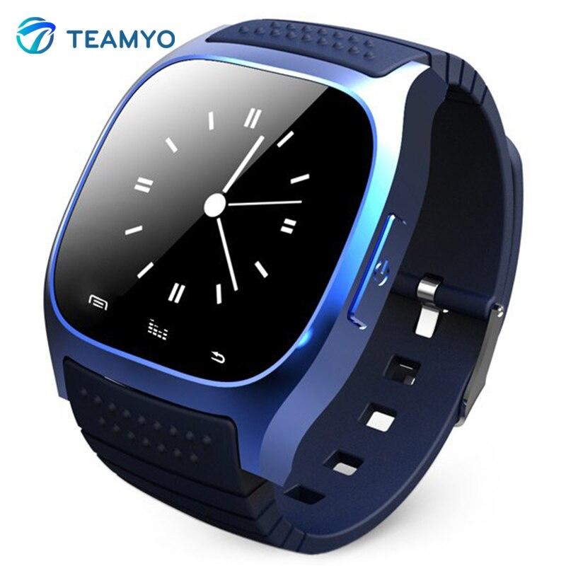 Rwatch m26 bluetooth smart watch android téléphone smartwatch avec affichage led lecteur de musique podomètre à distance caméra relojo smart