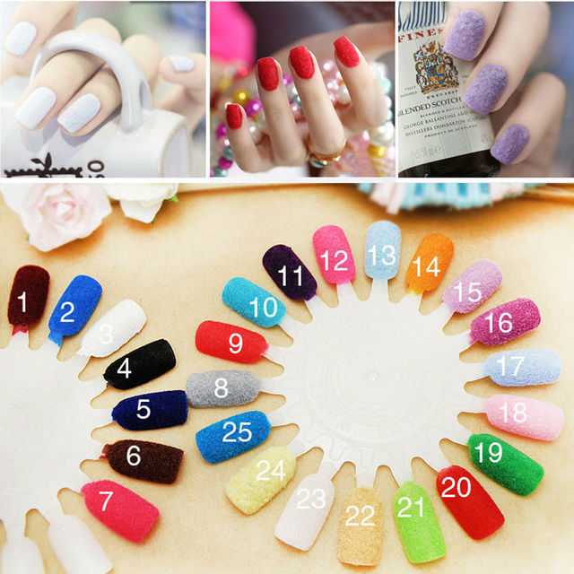 Ultra Fine Glitter Dust Powder Nails Art Decoration Velvet Fiber Nail Polish Professional Cosmetics
