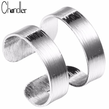 Brand 10pcs Silver Gold Two Lines Band Rings Open Wide Bague Geometrical Jewelry Knuckle Finger Metallic Anel Aneis For Women