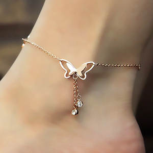 QCOOLJLY Foot Chain Summer Beach Leg Bracelet Jewelry