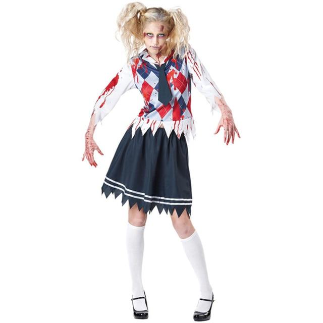 vocole women high school uniform zombie costume halloween scary schoolgirl cosplay fancy dress