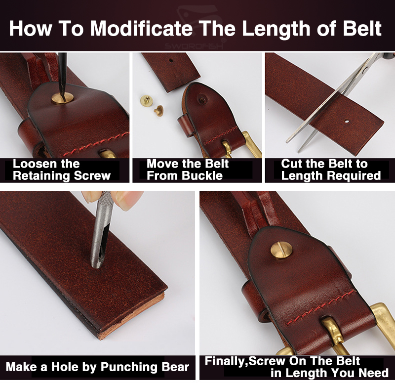 how to modify the length of belt