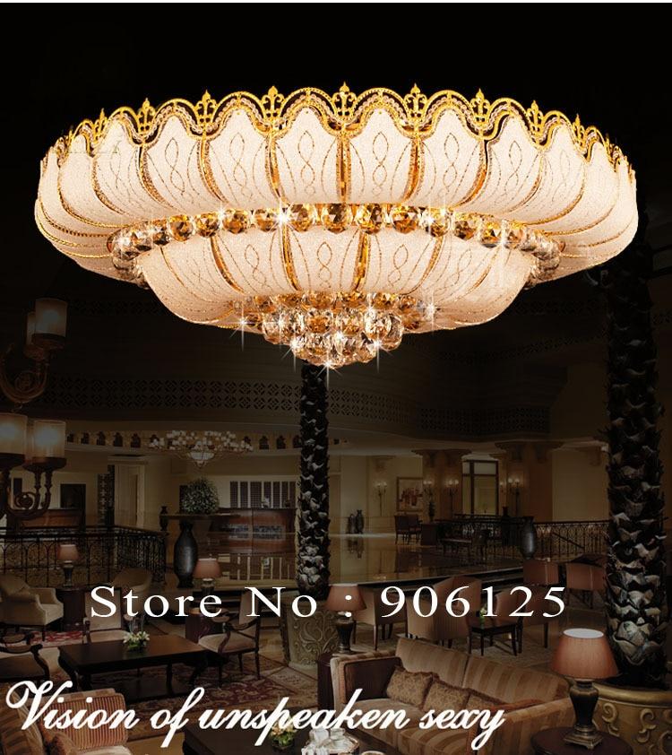 Empire Crystal Flush Mount Ceiling Light Fixture Gold Chrome