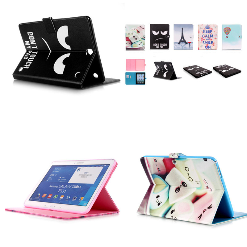 New YB Tab4 10.1'' T530 Cute Stand Flip Wallet Case PU Leather Shell Cover for Samsung Galaxy Tab 4 10.1 T531 T535 Tablet colorful print wallet book card slot business cover stand pu leather case for samsung galaxy tab 4 10 1 t530 t531 t535 tablet