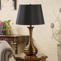 Spiral Shape Simple Warm Golden Table Lamps Retro Creative American Style Lighting luminaria de mesa