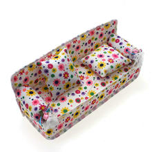 New popular vui flower in chic mini sofa couch + 2 đệm trẻ em sofa couch toys(China)