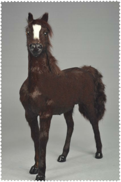 new coffee simulation 1:6 war horse toy lifelike blood horse doll gift about 36x34cm