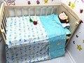 Promoción! 3 unids 100% algodón kit de cama cuna pieza juego de cama ropa de cama, ( funda nórdica + hoja + funda de almohada )