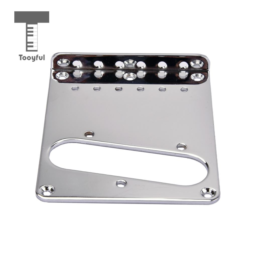 tooyful iron guitar bridge plate pickup mount hole for tele tl electric guitar diy parts chrome. Black Bedroom Furniture Sets. Home Design Ideas