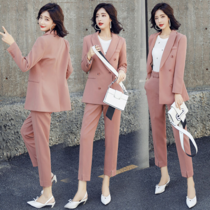 Womens Business Formal Suit Support Customization Womens Suit Womens Double-breasted Suit Two-piece Suit jacket + Pants