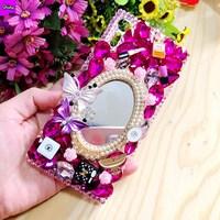 Diamond Case For LG K10 5 3 Bling Luxury 3D Handmade Protective Hard PC Clear Rhinestone