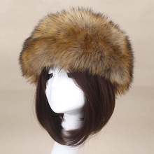 Man Women Fur Hats Tick Fuffy Warm Authentic Fox Fur Hat Hea