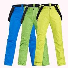 Женские лыжные штаны, новые зимние уличные утепленные спортивные брюки, мужские ветрозащитные водонепроницаемые теплые сноубордические брюки, спортивные теплые брюки