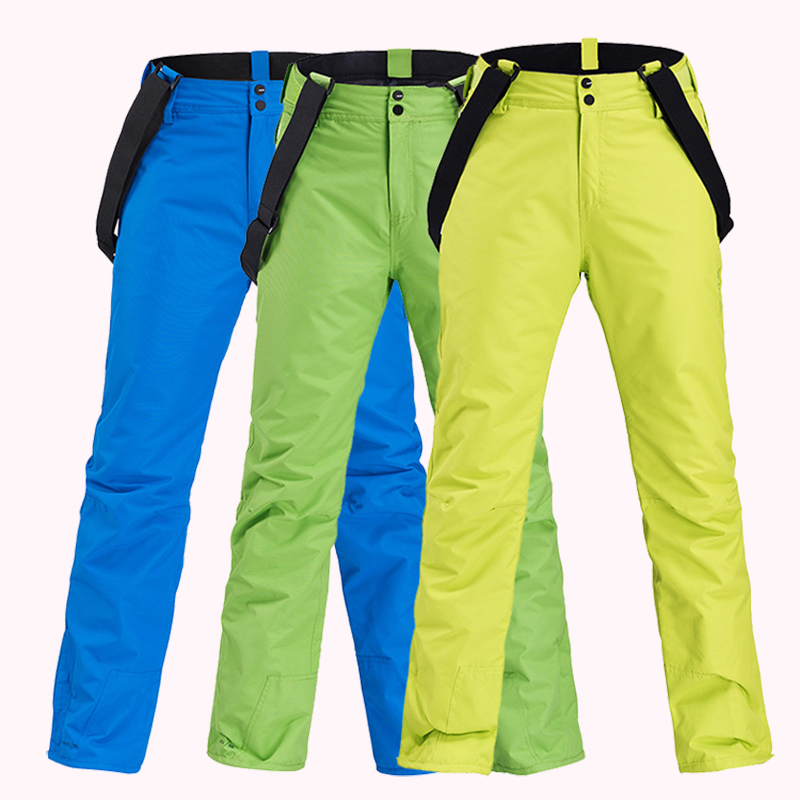 Women Ski Pants New Winter Outdoor Thickening Sports Trousers Men Windproof Waterproof Warm Snowboard Trousers Sports Warm