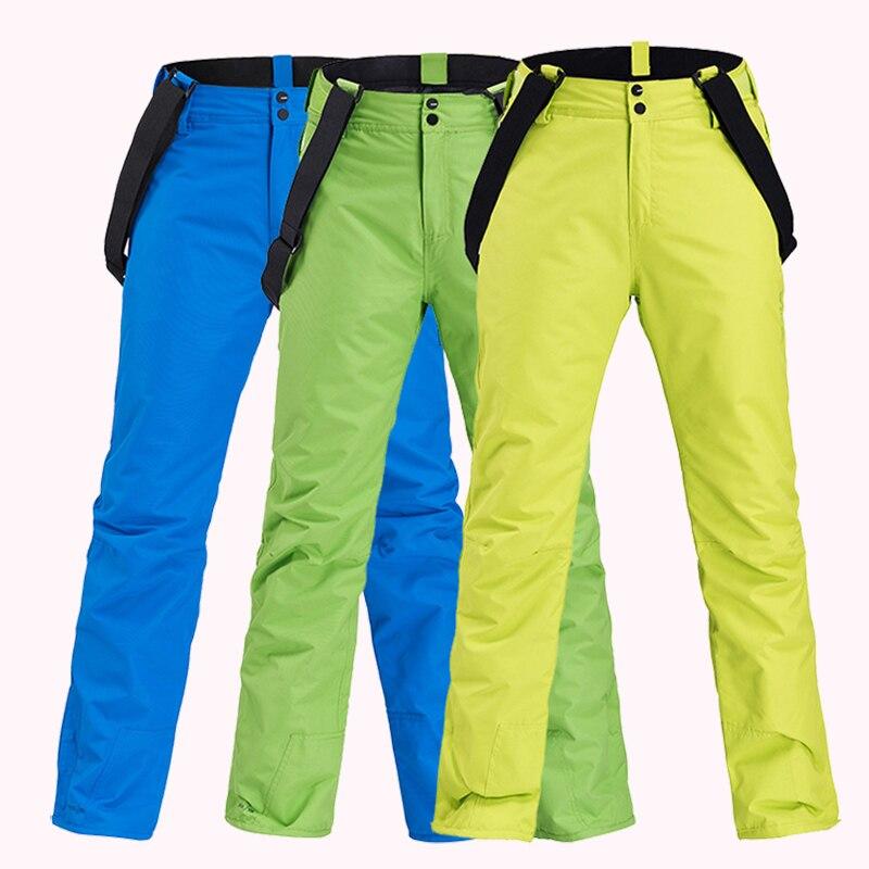 Women Ski Pants New Winter Outdoor Thickening Sports Trousers Men Windproof Waterproof Warm Snowboard Trousers Sports Warm