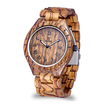 MUYESENLIN Retro Wood Watch Men`s Quartz Wristwatch 100% Nat