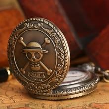 Anime One Piece Pocket Watch Men Women Necklace Pendant