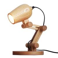 Nordic Wood Table lamp with E27 led lamp wood Lampshade lamparas de mesa Desk Light Decoratio Luminaria For Living Room