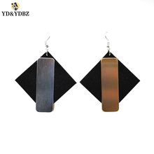 YD&YDBZ Designer New Design Rose Gold And Silver Two Sides Color Dangle Earring  Big Earrings Fashion Punk Style Womens