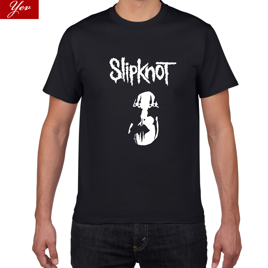 New Wave Of American Heavy Metal Slipknot Tshirt Men Metal Band  100% Cotton T Shirt  Hip Hop Tee Streetwear Cool Mens Clothing