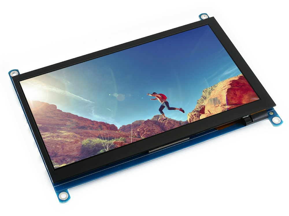 Waveshare 7inch HDMI LCD H Monitor 1024x600 Resolution IPS Capacitive Touch Screen Supports Raspberry Pi
