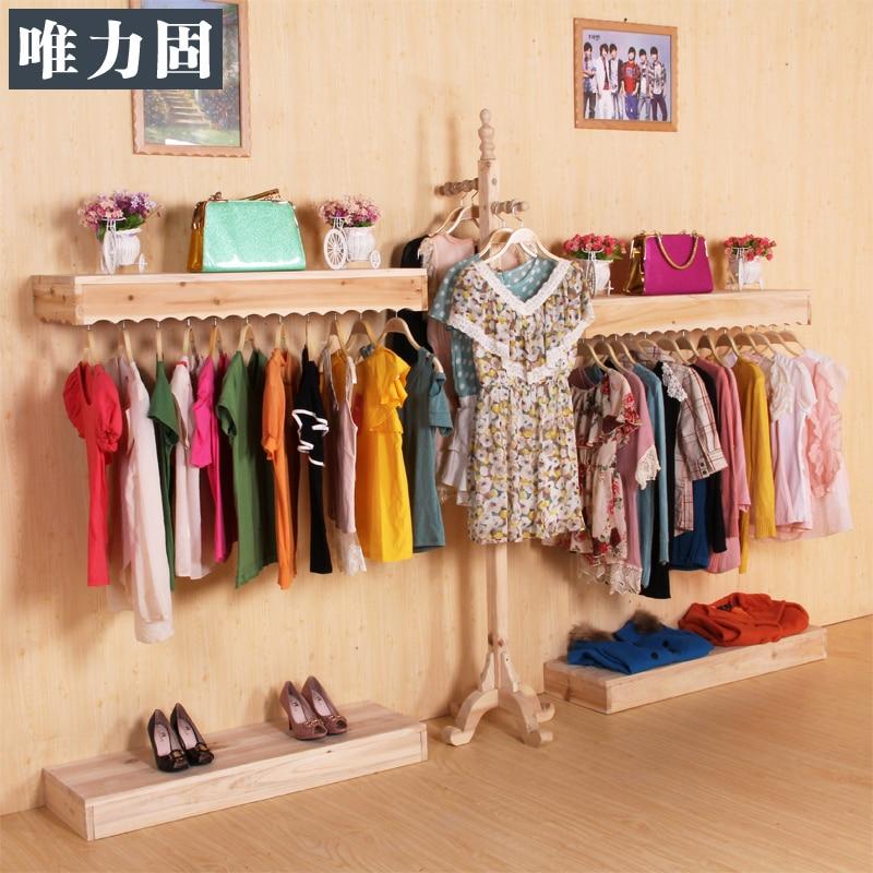 Alto grado de madera maciza estante perchero percha ropa - Colgador de tela con bolsillos ...