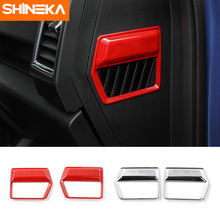 SHINEKA Car Internal Styling Dashboard Air Condition Outlet Vent  Cover Trim Frame Stiker Fit for Ford F150 2015+