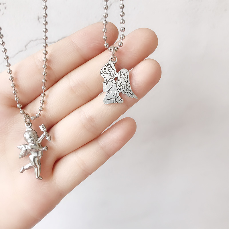 ABC love angel archery angel Cubitt Love Pendant clavicle chain Harbin Europe and America wind punk cool Necklace in Chain Necklaces from Jewelry Accessories