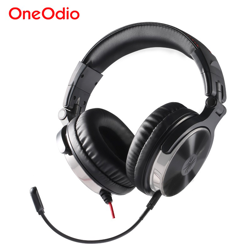 Oneodio Gaming Headphones With Microphone For Phone PS4 Computer PC Gamer Headset Hifi Stereo Wired Over Ear Studio DJ Headphone portable 3 5 jack wired headphone ear shaped cute foldable stereo headset sport led light gamer games headphones