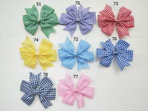 Image 1 - headwear Cartoon stripe V Pinwheel Princess character Hairbows gingham plaid Hair bows clips hair ties Accessories 50pcs HD3355