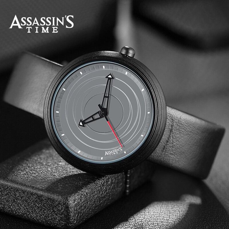 Tiempo de la marca de fábrica de Assassin Luxury reloj de cuarzo a - Relojes para hombres