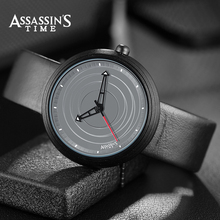 Марка Assassin Time Brand Luxury Waterproof Quartz Watch Man Кожаный наручный наручный часы Мужские часы Мужские часы 2035 Движение