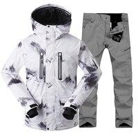 2018 Gsou Snow Мужская лыжная куртка мужской лыжный костюм + брюки Сноубордическая куртка мужская зимняя мужская куртка спортивные костюмы лыжны