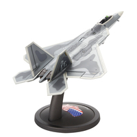 Terebo 1/72 Scale Military Model Toys Lockheed Martin F 22 Raptor Stealth Air Superiority Fighter Diecast Metal Plane Model Toy