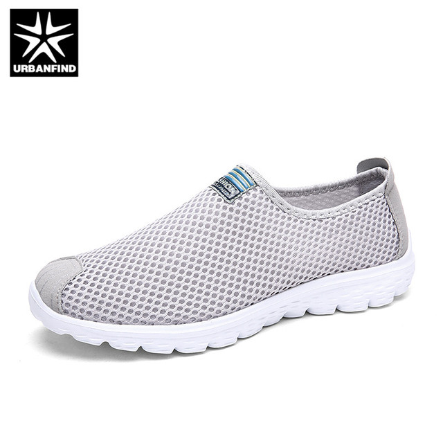 43a78afb528 URBANFIND Unisex Summer Breathable Mesh Sneakers Size 35-45 Light Soft Male  Female Slip-on Casual Shoes Loafers For Walking