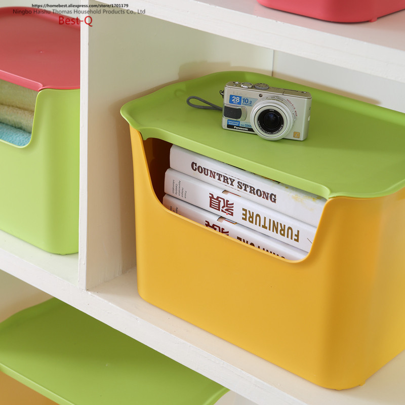 Free shipping Creative plastic storage box, color storage box desktop finishing box, front opening