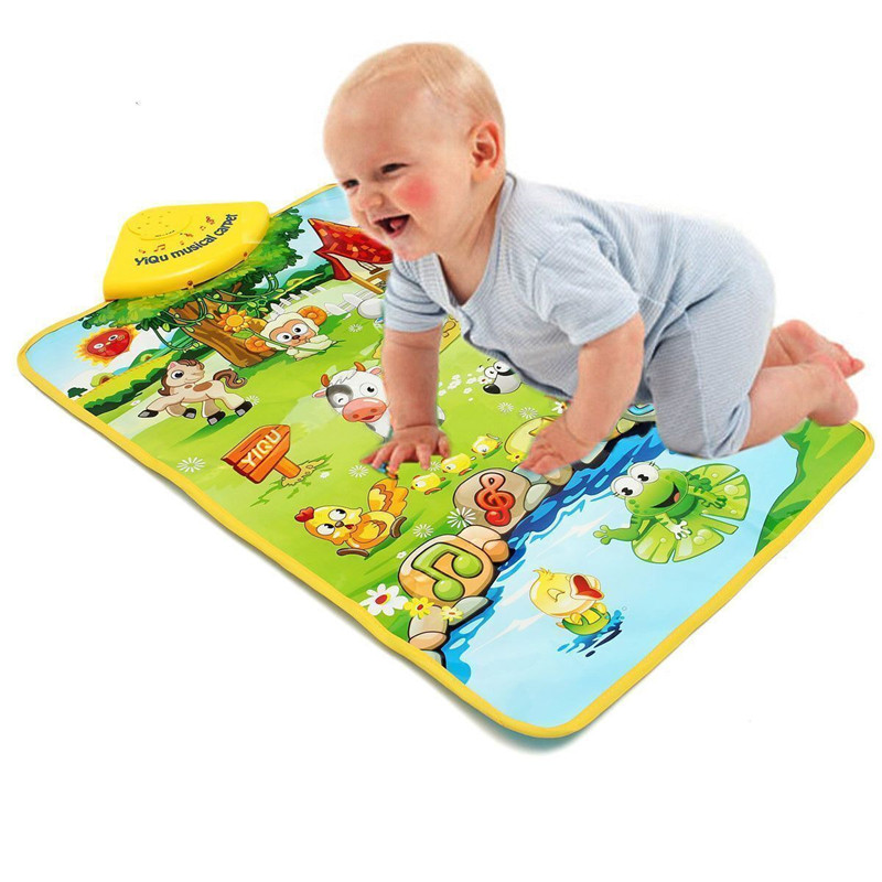 Baby Play Mats Kids Rug Developing Carpet Farm Animal Carpet Music Sound Singing Kids Baby Children Gym Play Mat ...