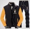 Костюмы Куртка мужчины толстовки кофты марка мужская одежда моды случайные спортивные костюмы jcoat бейсбол мужская одежда набор